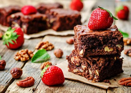 brownies met noten
